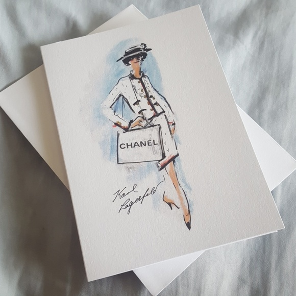 48f4d31f16a Brand new Authentic Chanel greeting card NWT